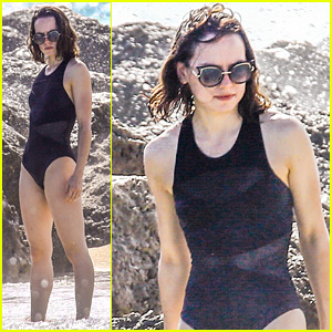 Daisy Ridley Takes a Well-Deserved Break on the Beach in Miami!