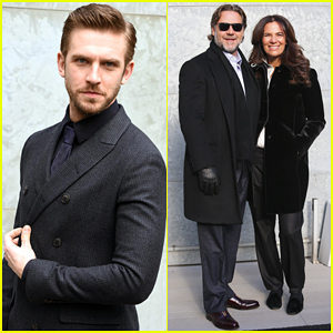 Dan Stevens & Russell Crowe Hit Milan For Men's Fashion Week!