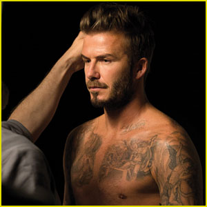 David Beckham Goes Shirtless for His Fragrance Photo Shoot