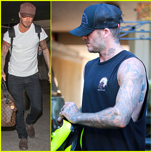 David Beckham Shows Off His Completely Tattooed Arms
