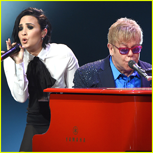 Demi Lovato Performs 'Don't Go Breaking My Heart' With Elton John