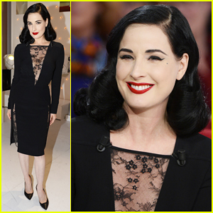 Dita Von Teese Promotes Crazy Horse Paris Cabaret on French TV!