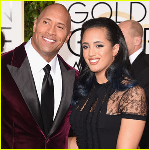 Dwayne Johnson Brings Daughter Simone to Golden Globes 2016