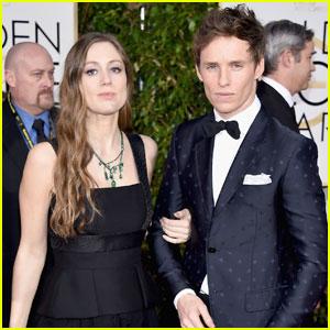 Eddie Redmayne Keeps Close to Pregnant Wife Hannah Bagshawe at Golden Globes 2016