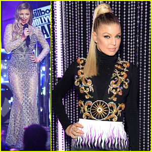 Fergie Stuns in Sheer Sequined Gown on New Year's Eve 2016