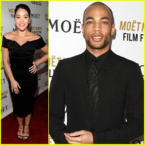 Gina Rodriguez & Kendrick Sampson Kick Off Golden Globes Weekend at Moet Moment Film Festival