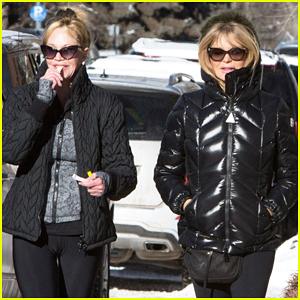 Goldie Hawn & Melanie Griffith Buddy Up In Aspen!