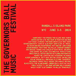 Governors Ball Lineup 2016: Kanye West, The Strokes, & More!