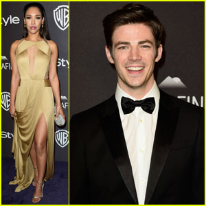 Grant Gustin & Candice Patton Flash into InStyle's Golden Globes Party 2016
