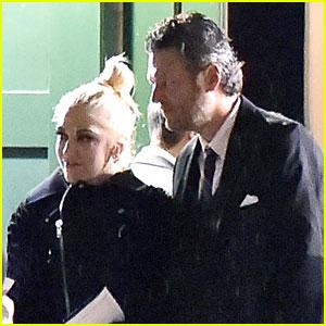 Gwen Stefani & Blake Shelton Couple Up at Hairstylist's Wedding