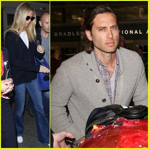 Gwyneth Paltrow & Boyfriend Brad Falchuk Return From Paris