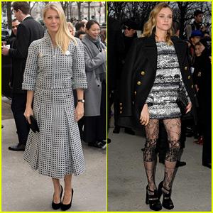 Gwyneth Paltrow & Diane Kruger Celebrate at Karl Lagerfeld's Fashion Show!