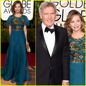 Harrison Ford & Calista Flockhart Couple Up at the Golden Globes 2016