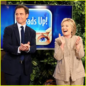 Hillary Clinton Plays 'Heads Up' with Tony Goldwyn on 'Ellen'!