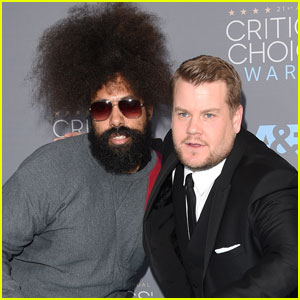James Corden Gets Silly on Critics' Choice Awards 2016 Carpet With Reggie Watts