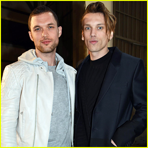 Jamie Campbell Bower & Ed Skrein Buddy Up At Diesel Black Gold Fashion Show!