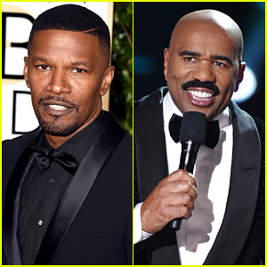 Jamie Foxx Parodies Steve Harvey's Miss Universe Flub at Golden Globes 2016 - Watch Now!