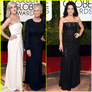 Jamie Lee Curtis & Daughter Annie Guest Sport Matching Silver Hair at Golden Globes 2016
