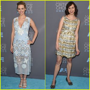 January Jones & Kristen Schaal Attends Critics' Choice 2016