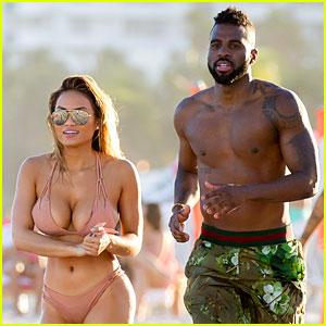 Jason Derulo & Girlfriend Daphne Joy Hit the Beach