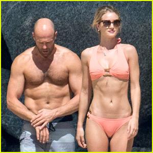 Jason Statham & Rosie Huntington-Whiteley Flaunt Perfect Beach Bodies in Thailand!