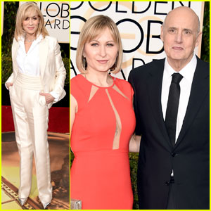 Jeffrey Tambor & Wife Kasia Ostlun Arrive at Golden Globes 2016