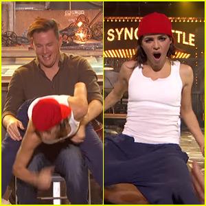 Jenna Dewan-Tatum Gives Channing Tatum a Lap Dance on 'Lip Sync Battle' - Watch Now!