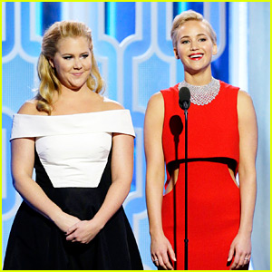Jennifer Lawrence & Amy Schumer's Golden Globes 2016 Video - Watch Them Present Together!