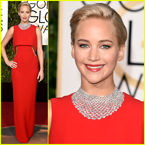 Jennifer Lawrence Is Gorgeous In Dior At The Golden Globes