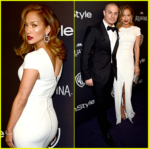Jennifer Lopez Is White Hot with Casper Smart at Golden Globes 2016 After Party