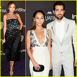 Jesse Metcalfe & Cara Santana Couple Up for InStyle's Golden Globes 2016 After Party!