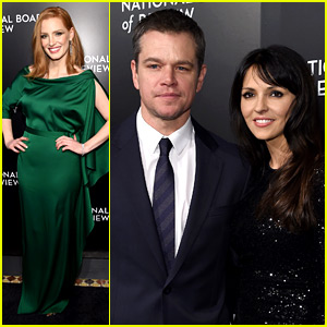 Jessica Chastain Supports Matt Damon at NBR Awards Gala!