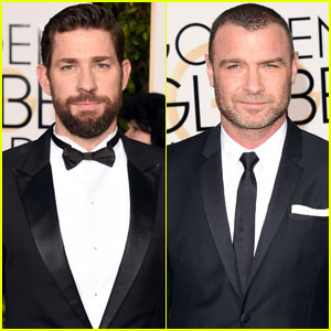 John Krasinski & Liev Schreiber Up the Handsome Factor at Golden Globes 2016