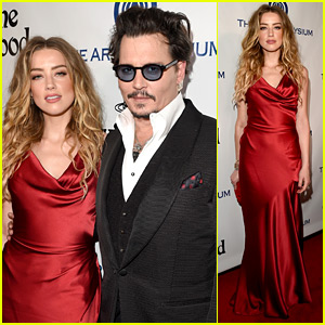 Johnny Depp & Amber Heard Are Red Hot for Art of Elysium!