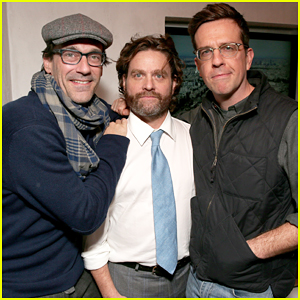 Jon Hamm & Ed Helms Support Zach Galifianakis At 'Baskets' Premiere!