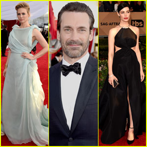 Jon Hamm & January Jones Bring 'Mad Men' to SAG Awards 2016 With Jessica Pare