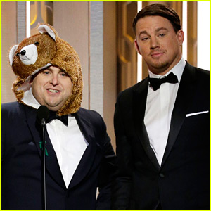 Jonah Hill Dresses As the Bear From 'The Revenant' at Golden Globes 2016!