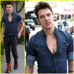 Jonathan Rhys Meyers Bares His Chest While Out Shopping