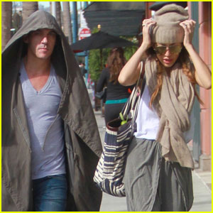 Jonathan Rhys Meyers Goes Incognito During Rare Appearance With Fiancee Mara Lane