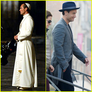 Jude Law Continues Filming 'The Young Pope' in Venice