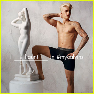 Justin Bieber 'Flaunts It' in New Calvin Klein Campaign Photos