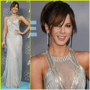 Kate Beckinsale Sparkles in Silver at Critics' Choice Awards 2016