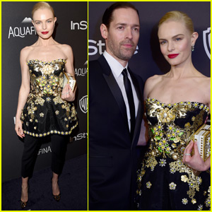 Kate Bosworth & Michael Polish Couple Up at Golden Globes After Parties