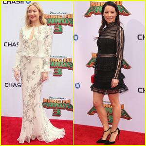 Kate Hudson & Lucy Liu Support 'Kung Fu Panda 3' at Premiere