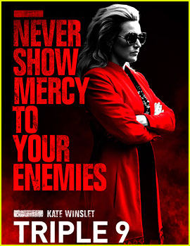Kate Winslet Shows No Mercy on 'Triple 9' Character Poster