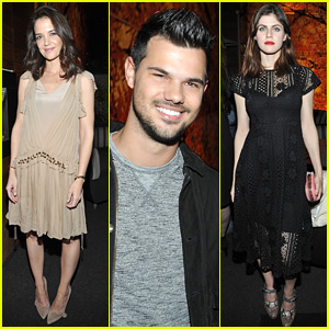 Katie Holmes & Alexandra Daddario Ring In Golden Globes Weekend at Kelly Klein's Party!