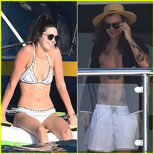 Kendall Jenner & Harry Styles Board Yacht in St. Barts on New Year's Day