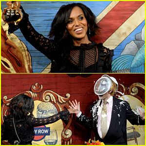 Kerry Washington Throws Pie at Fake Donald Trump's Face at Harvard's Hasty Pudding Event!
