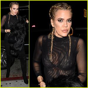 Khloe Kardashian Two Cornrows