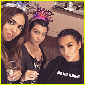 Kim Kardashian Welcomes in 2016 with Her Crew!
